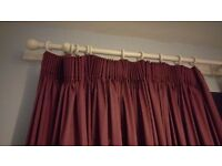 Dark Red (maroon) / Purple curtains