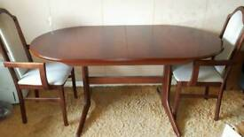 Dining table and 2 matching chairs