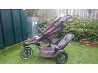 Double Single Pram buggy Phill and Teds