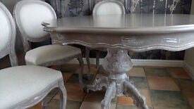 Beautiful Dining Table and Chairs Italian French Shabby Chic