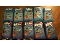 Huggies pull ups boys size large ( nappies)
