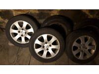 Tires 195/55/15 on alloy wheels