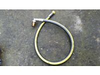 Oven Cooker Gas Supply 1 Metre Pipe Flexible Hose Angle Micropoint EN14800