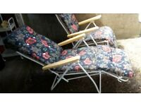 2 x reclining garden chairs - DELIVERY AVAILABLE