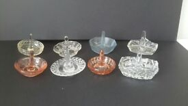 Glass ringstands. Selling for Charity