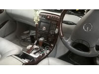 mercedes s class breaking all parts black and greay leathers