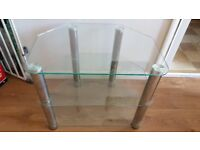 Glass and Chrome TV Stand for smaller TVs - £10 (collection only)
