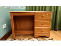 Pine effect desk/dressing table