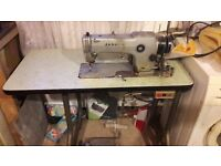 Janome industrial sewing machine. Working but needs some work.