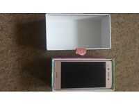 Rose Gold Sony Expedia X mobile phone BNwT