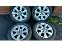 """Genuine 16"""" 5x112 Audi A3 Alloy wheels and tyres"""