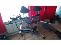 Electronic Drum Kit Yamaha DTXplorer, used, good order except needs replacement high hat