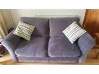 REDUCED: Harvey's Double Sofa bed PLUS storage stool