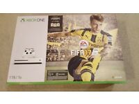 Brand New Sealed Xbox One S Console 1TB White FIFA 17 Download & COD IW Legacy Edition with MWR DLC
