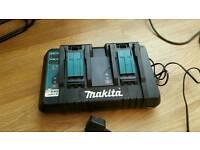 Makita double charger