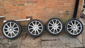 """😆17 """" Racing Mania alloys with Low Profile Tyres😆"""