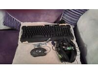 Gaming Keyboard,mouse and headset bundle