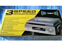 3 Speed vinyl turntable Record Player