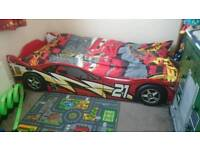 Kids child's racing car bed full size single