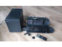 Onkyo TXSR606 7.1 cinema surround sound amplifier, Jamo A102 5.1 speakers and sub and speaker cable
