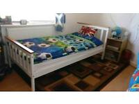 Standard size single bed with M&S mattress