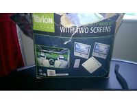 Tevion twin screen dvd player