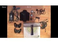 Xbox 360 elite with 17 games plus extras