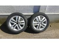 2 x Vauxhall alloy wheels