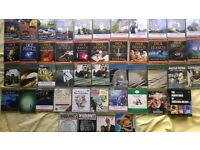 A collection of audio books on cassette tapes