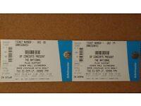 The National - 2 x standing tickets (Thursday 21st September, Edinburgh)