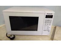 Panasonic white small microwave
