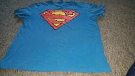 mens superman top size large