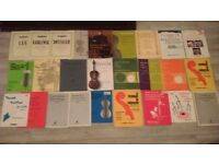 Collection of beginner/intermediate cello music books, 27 in total