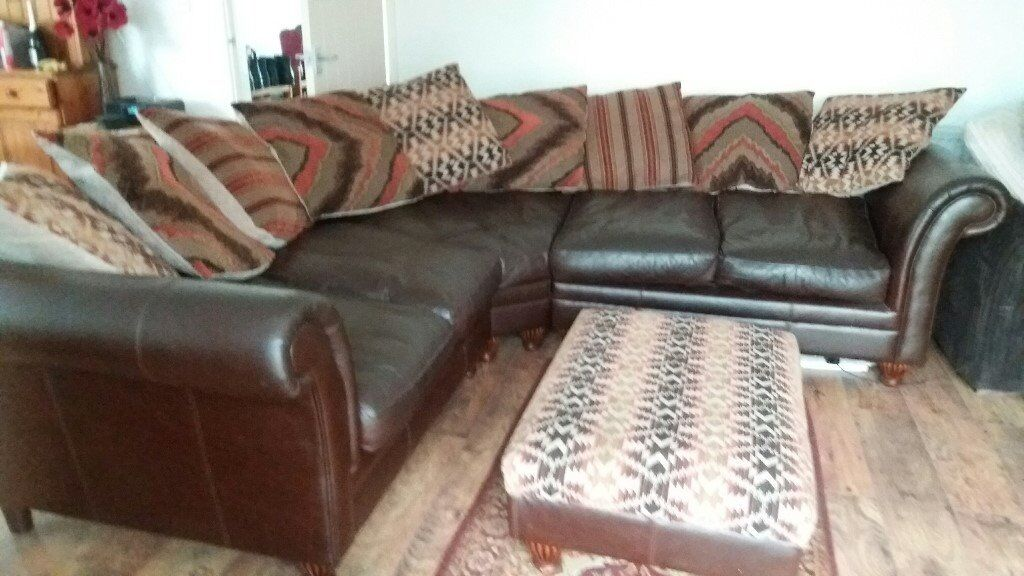 Beautiful Corner Sofa And Stool Having To Sell Due To