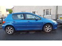 Peugeot 307 S HDI 110 Diesel-2005-Mot ends in 31/10/16