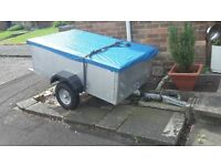 trailer with lights and ladder rack