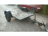 small flatbed trailer
