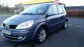 QUICK SALE OFFER 2008 RENAULT SCENIC, 1.6 PETROL,MOT-FEB,19, 2 KEEPERS, 60K LOW MILEAGE, CHEAP CAR.