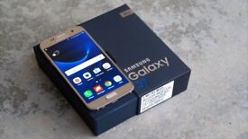 **6 MONTHS WARRANTY** Samsung Galaxy S7 GOLD UNLOCKED IMMACULATE BOXED