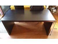 Ikea Large Black Office / Computer Desk H73.5 W151
