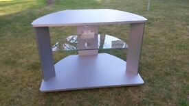 Silver Television Stand