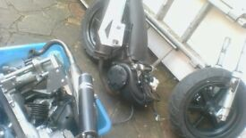 ajs firefox 50cc moped engine new