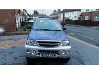 52 REG DAIHATSU TERIOS 4X4 PETROL ELECTRIC SUNROOF BARGAIN ONLY £995