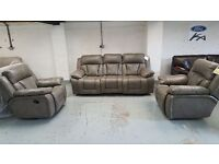 NEW ScS KENNEDY 3 SEATER POWER RECLINER & 1 POWER RECLINER ARMCHAIR & 1 ROCKER RECLINER ARMCHAIR