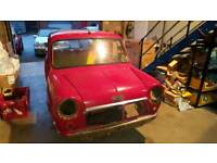 1980 Classic Mini Deseemed Body Shell with V5