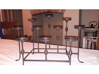Party lite candle holder. antiqued metal holds nine candles
