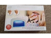 Professional UV nail extensions kit with UV lamp