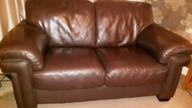 SOLD 3 Seater and 2 Seater Superb Creations chocolate brown sofas for sale. Good condition £250 ovno