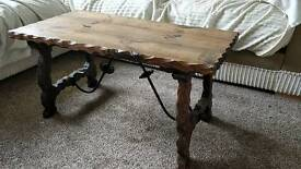 Solid Real Wooden Coffee Table