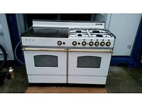 "White ""Rosieres"" Dual Fuel Range Cooker - Good, clean condition/free local delivery"